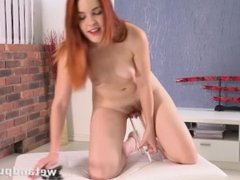 Pussy Closeup - Amarna Miller pumps her pussy and enjoys a flesh like dildo
