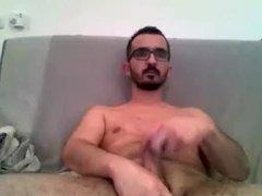Sexy Str8 Nerdy cums on cam #8
