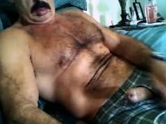 Moustache dady jerking off (no cum)