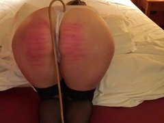 caning lady in hotel