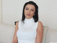 Gorgeous busty MILF Shalina Devine has sex with her bf and g