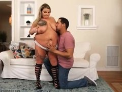 Sexy New BBW Riley Curves Loves to Get Fucked in Shoes