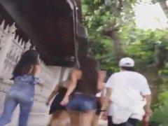 Filmando a Putaiada de Shortinho na Rua