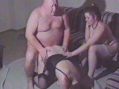 Ugly fat man fucks mature woman