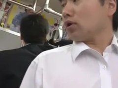 Japanese Teacher gets fucked in the train after work.