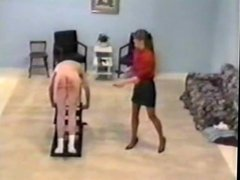 Julia Jameson severely canes disobedient slave (RARE)
