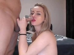 Blonde loving fucking Deep in the Throat.