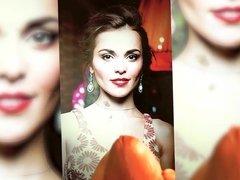 Sati Kazanova - big cumshot on beauty - cum tribute
