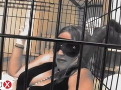 kidnapped caged and enslaved by a mega black cock