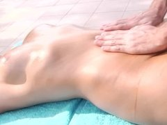 Mia Malkova Gets an Oil Massage Before a Face Full of Cum