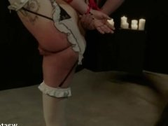 Hardcore BDSM For Bound Babe in Mask With Dreadlocks