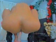 Blong big ass butt big tits riding dildo fingering