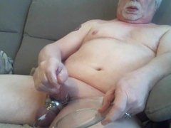 Cum shot with cock rings