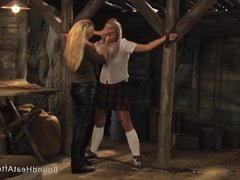Mistress And Handmaiden: Maid Facesitting On Young Slave