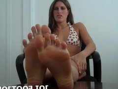 Feeling your hard cock between my feet makes me so wet