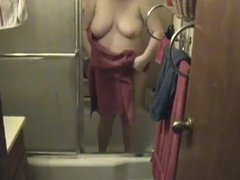 Kim Bates gets a surprise getting out of the shower. Enjoy.