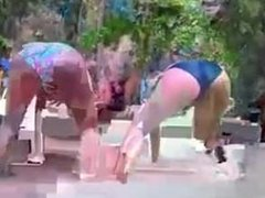 sexy girl dancing at the seAaside.mp4