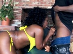 Thick Chocolate Ghetto Booty gets pounded by BBC Thug