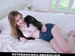 SisLovesMe - Big Tit Blonde Practice Fucks Her Stepbro