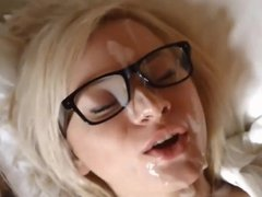 Facial Destroy and Playing with cum 07