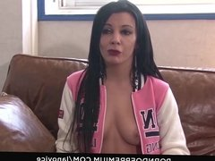 LA NOVICE - First time porn video with hot French brunette