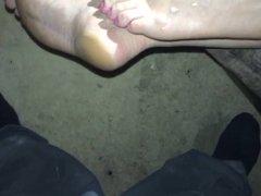 Cumming on my girl feet