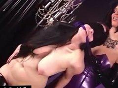 Bondage Queen RubberDoll Spanks Hot Latex Succubus Till Pink