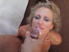 Mom takes it on her chin