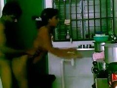 Tamil girl fucked in kitchen