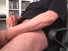 Wanking small cock till the end
