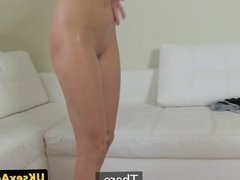 Blonde pussy fucking amateur sucks agents cock