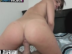 Kimmy Granger - Freckled Schoolgirls Striptease - I Know Tha