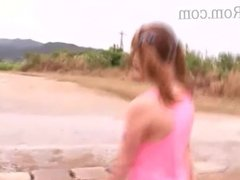 japanese busty wife at the beach getting her pussy fucked