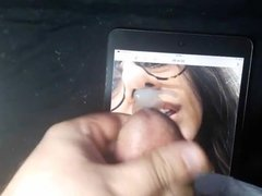 Cum Tribute to Mia Khalifa's nose
