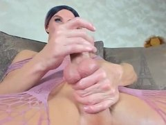 shemale cums using a fleshlight