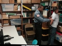 YoungPerps - Repeat shoplifter gets tied up and fucked by an angry mallcop