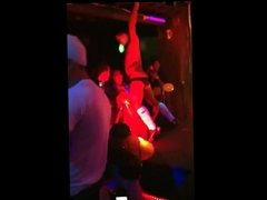 Male Stripper get Sucked by a Girl from the Audience