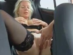 Back of car pussy show and more