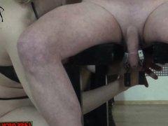 Anal Stimulation von deutscher domina - fedom Milf BDSM