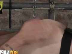 Maledom restrains his sub twink and drills his tight ass