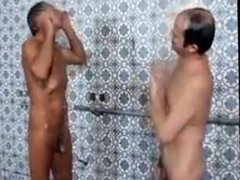 MEN NAKED HAVING SHOWER TOGETHER