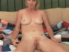 Blonde milf takes a cock up her ass