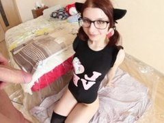 Neko girl enjoys being sodomized and abused. Piss play, anal and creampie.