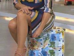 Marlene Lufen - Sexy Legs close to upskirt