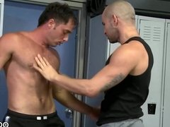 Latino stud bangs a white ass after gym