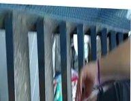Rabuda com a polpinha de fora de shortinho subindo a escada