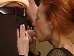 Redhead Gives Amazing Blowjob
