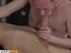 Kris Blent and Sean Taylor love bondage and mutual blowjobs
