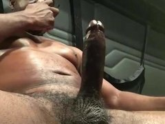 Big Dick Verbal Black Trucker Jerks Off & Cums