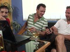 Pussyfucked slave pleasures masters cock